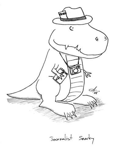 journaliste dinosaure