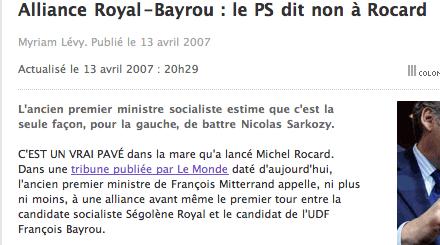 le Figaro fait un lien vers Le Monde