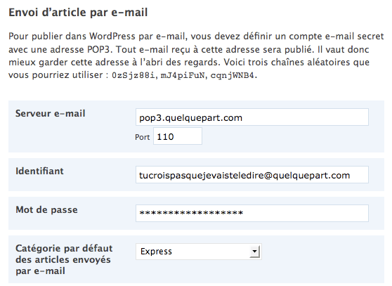 Bloguer par email