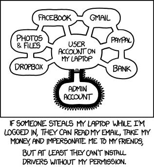 Ne laissez pas trainer votre ordinateur portable ! xkcd.com